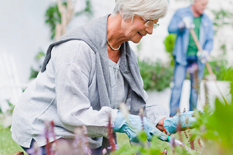 Photo of a woman gardening